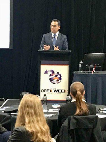 Presentación del Cubo de la Mejora Continua en la Semana de Excelencia Operacional en Sydney, Australia – 2018